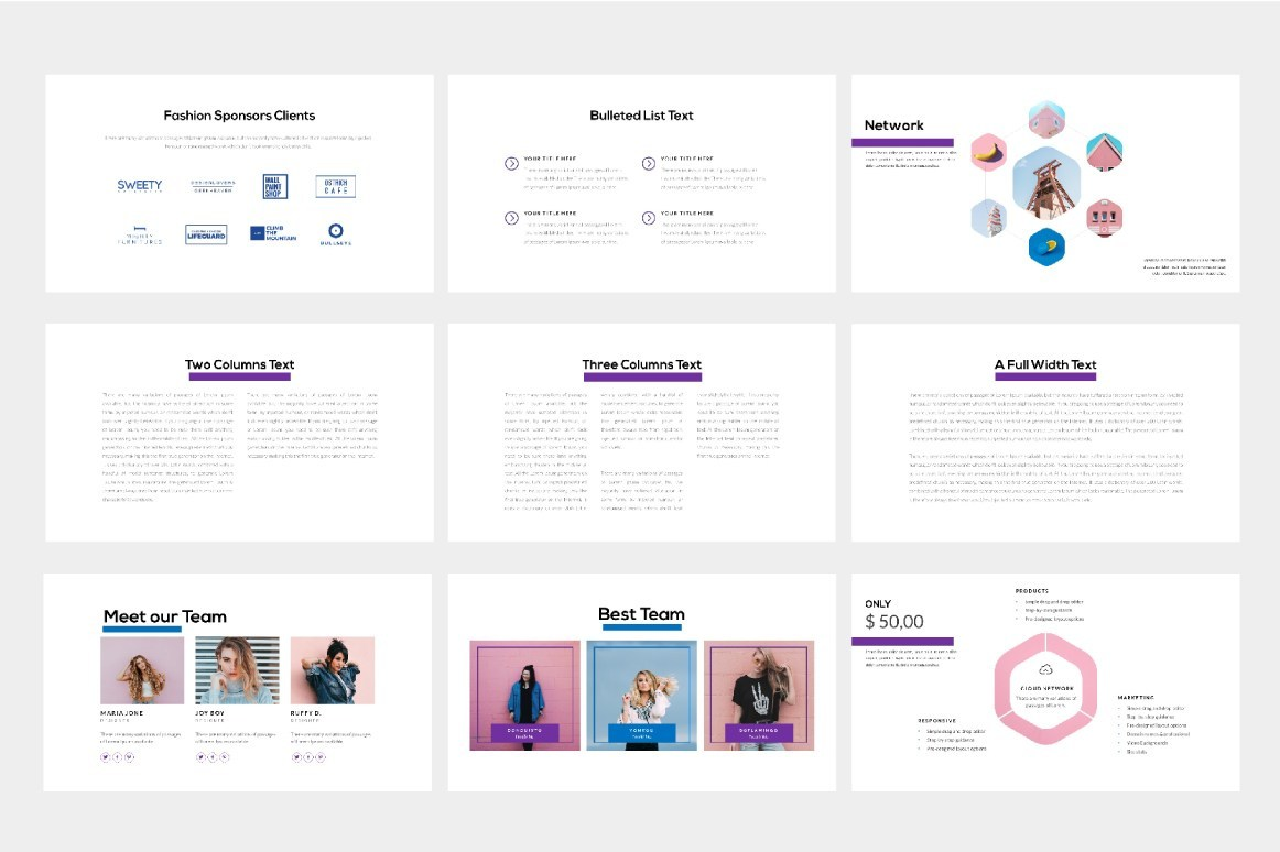 Fashion Free Presentation Template