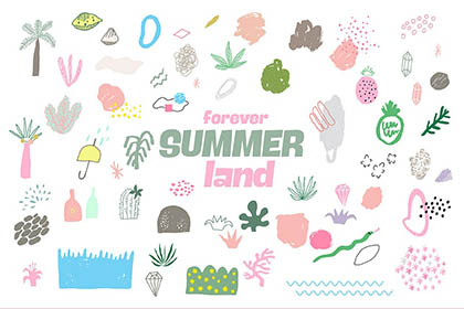 Forever Summer Land Illustration