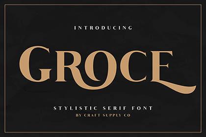 Groce Stylistic Serif Font