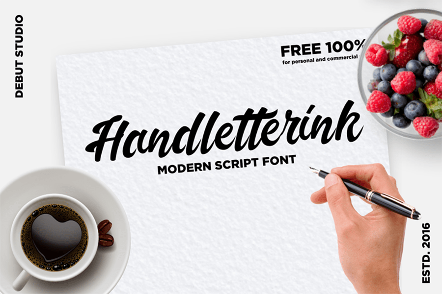 Handletterink Script Free Font