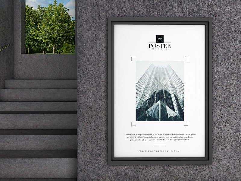 Free Industrial Poster Mockup – Free Design Resources