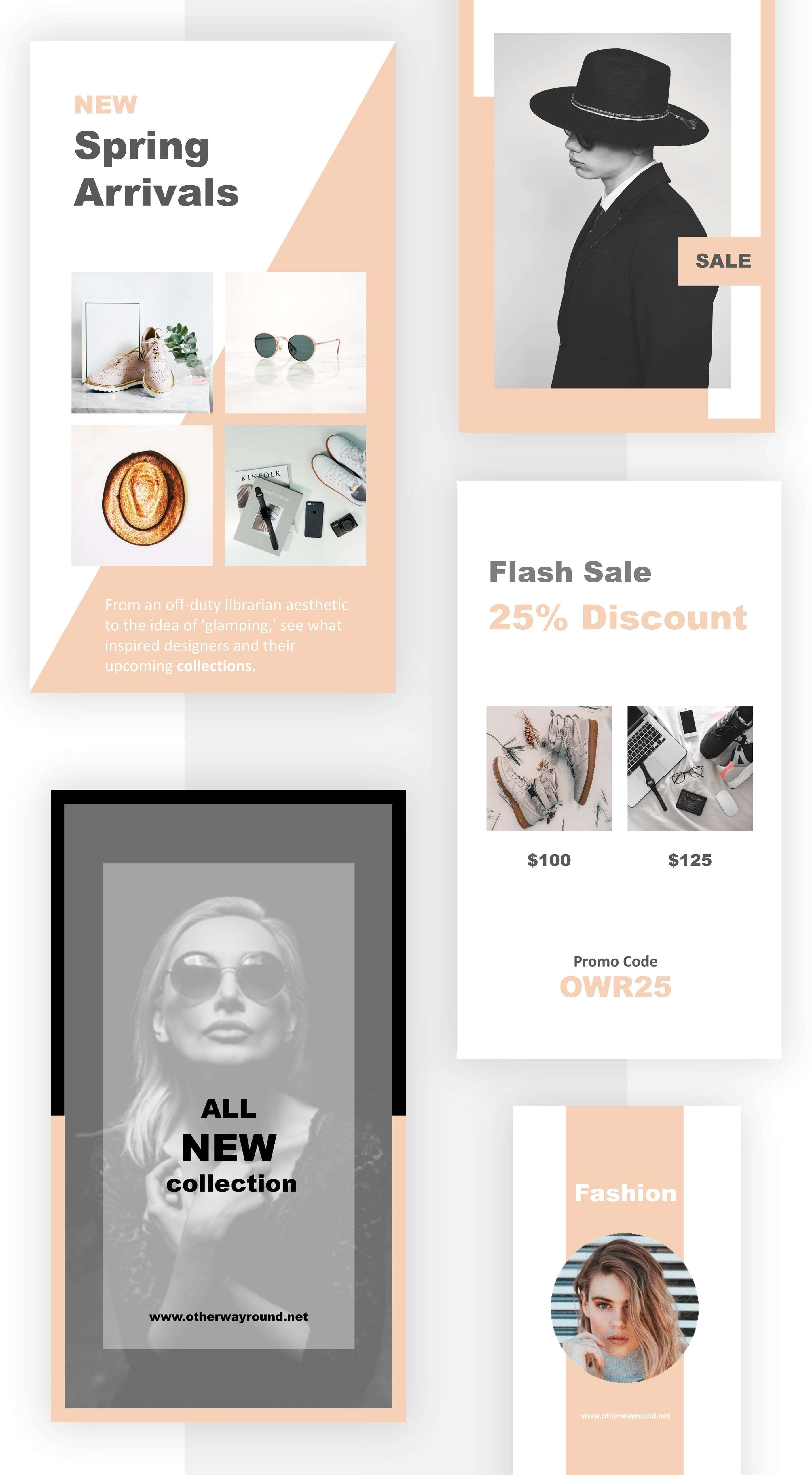 Instagram Stories Fashion Pack – Free Design Resources