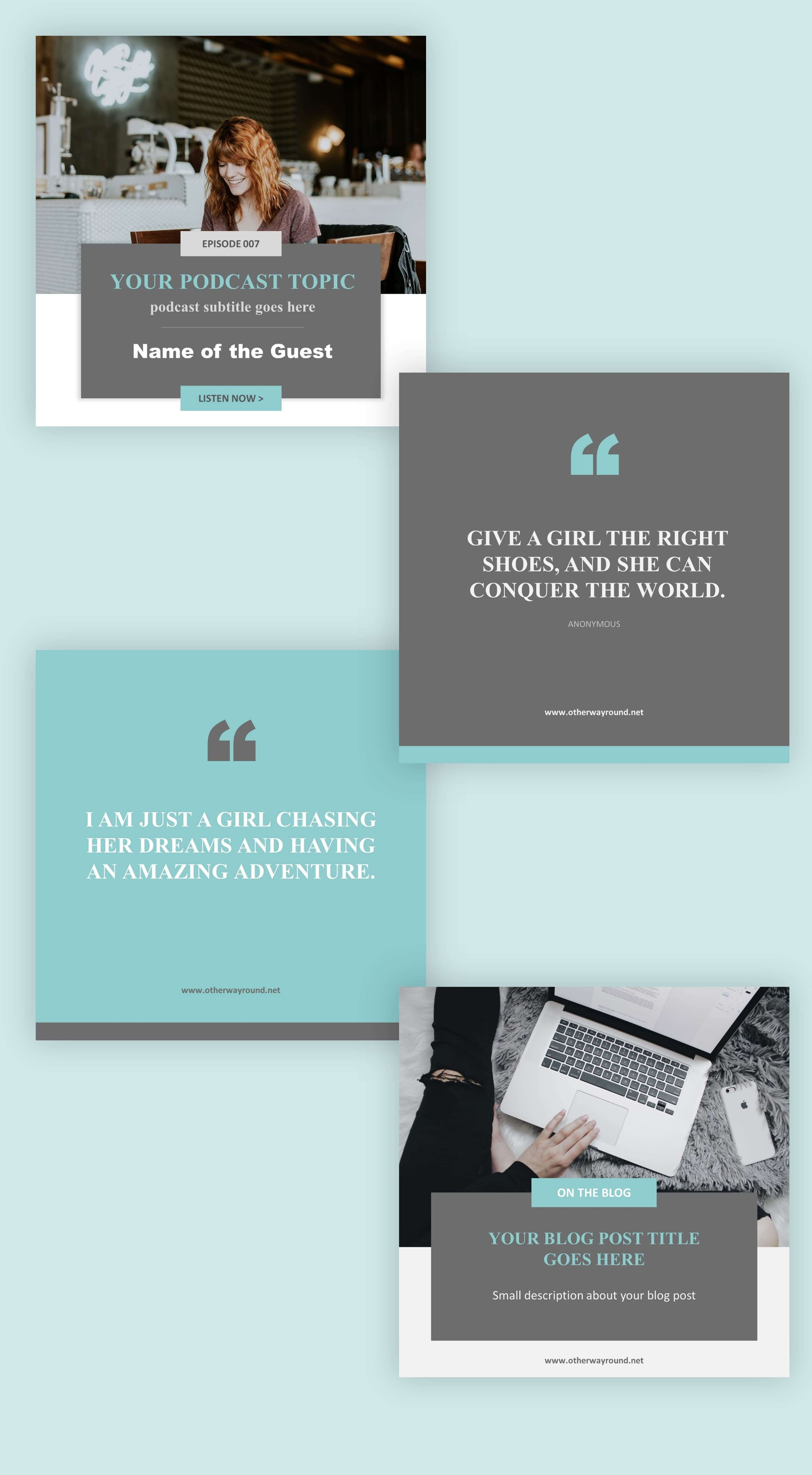 Bloggers Free Instagram Templates – Free Design Resources