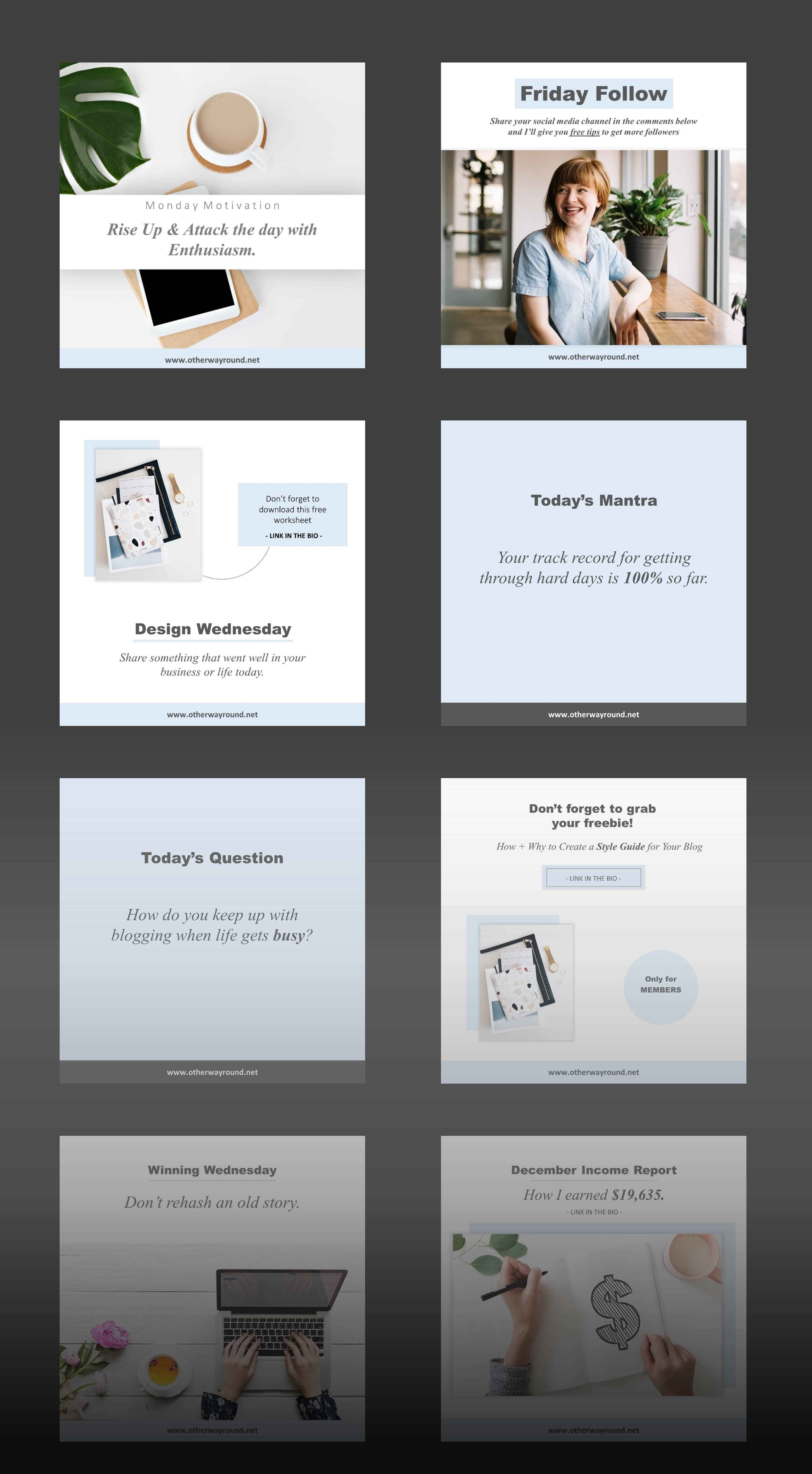 Bloghers Free Instagram templates – Free Design Resources