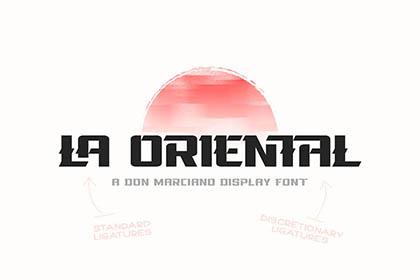 La Oriental Display Font