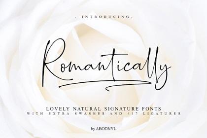 Romantically Script Font Demo