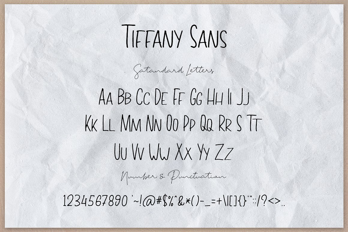 Tiffany Script Free Demo