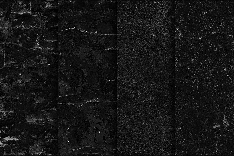 20 Black Wall Seamless Textures
