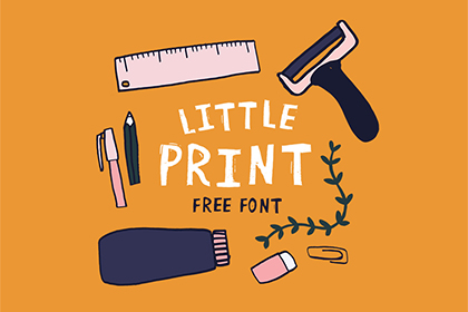 Little Print Free Display Font