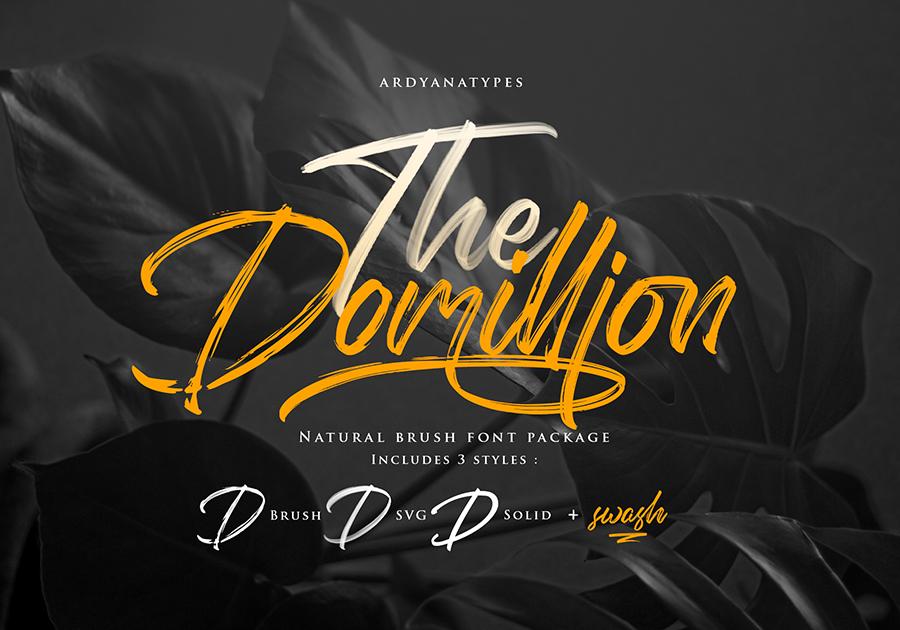 Domillion Brush Font Demo