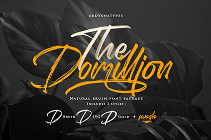 Domillion Brush Font Demo