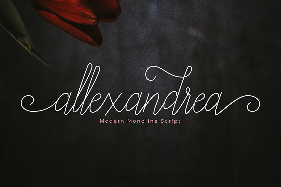 Alexandrea Script Free Font