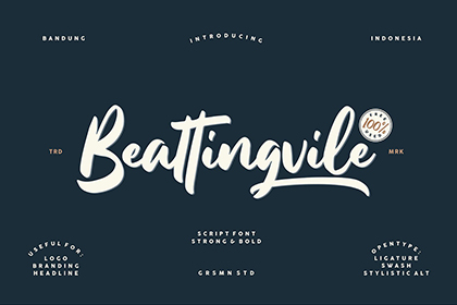 Beattingville Script Free Font