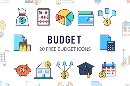 Budget Vector Free Icon Pack