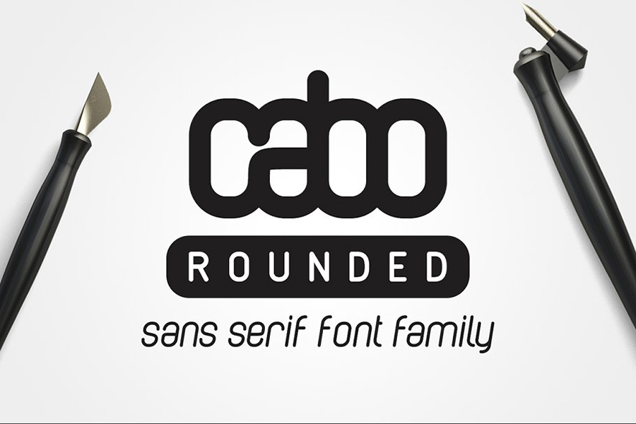 Cabo Rounded Slab Font