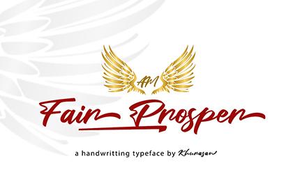 Fair Prosper Script Free Font