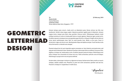 Modern Abstract Letterhead