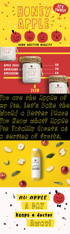 Honey Apple Juicy Free Font – Free Design Resources