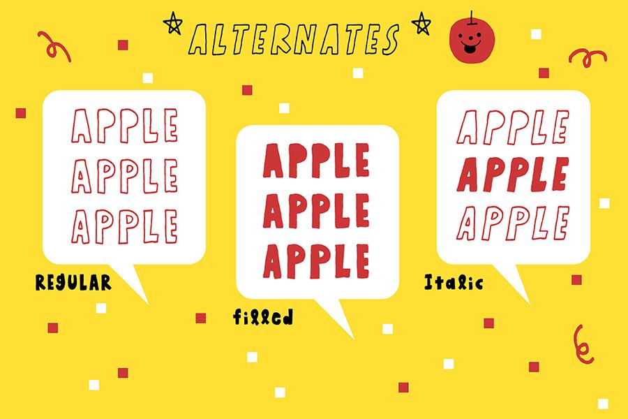 Honey Apple Juicy Free Font
