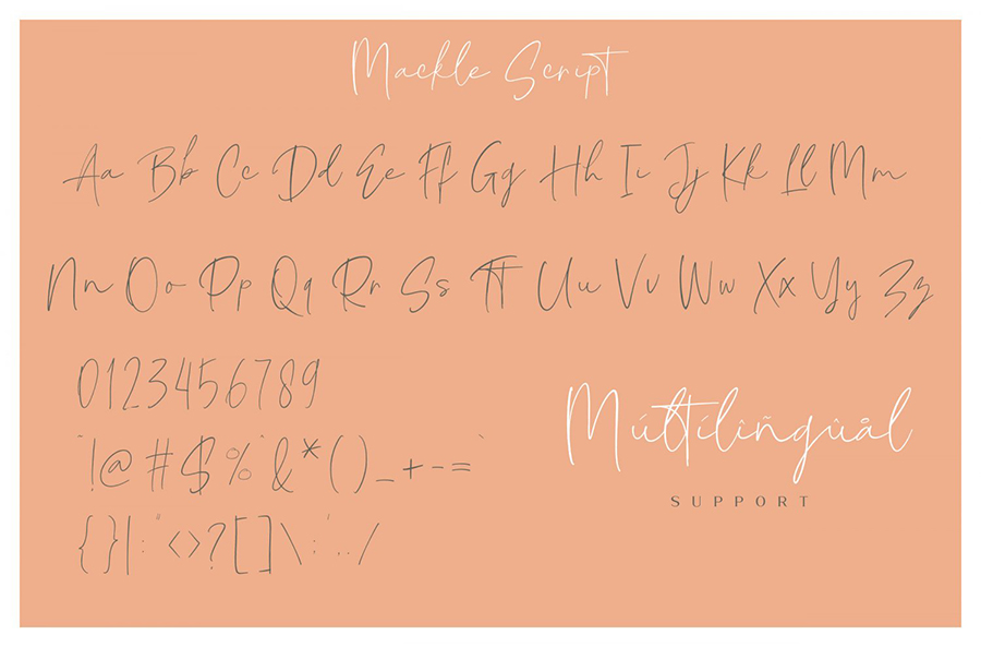 Mackle Script Font Demo