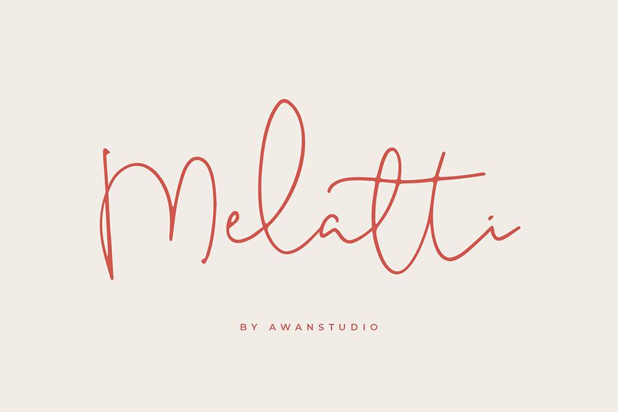 Melatti Handlettering Script