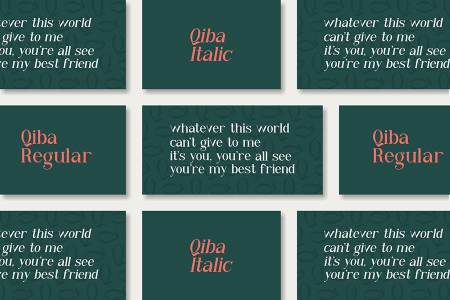 Qiba Simple Serif Font