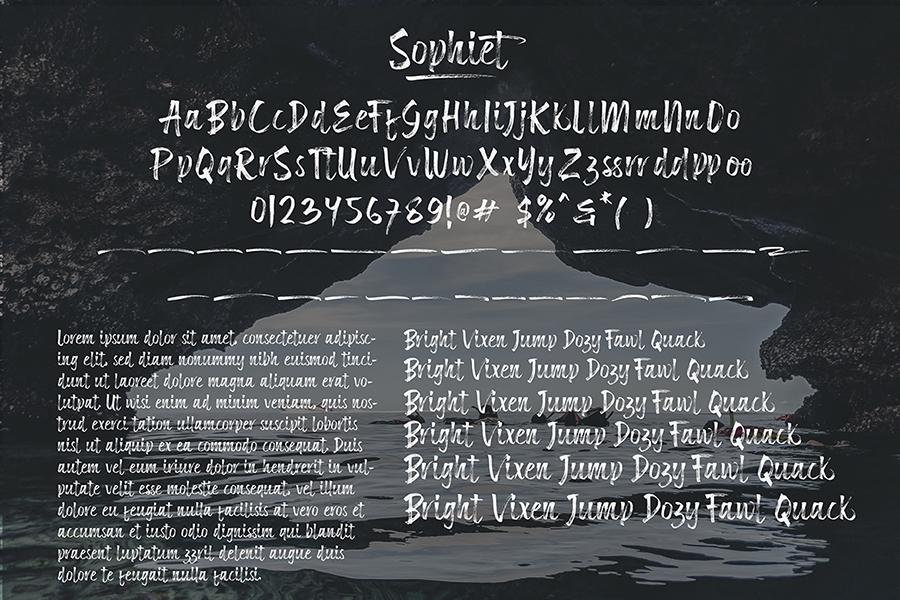 Sophiet Brush Script Font