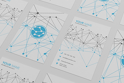 Tech Business Card Template