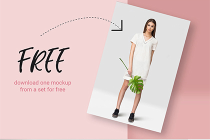 Free Tropic Dress Mockup