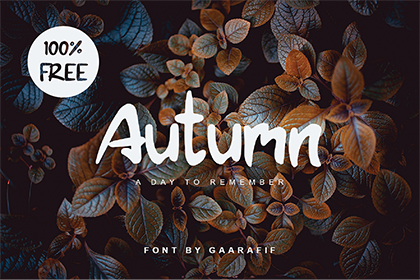 Autumn Free Display Font