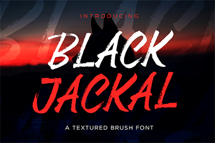 Black Jackal Brush Font