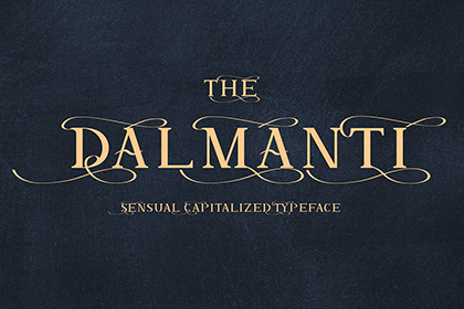 Dalmanti Display Font Demo