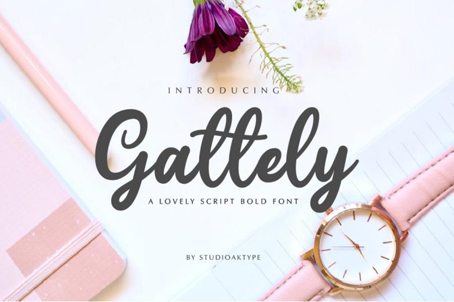 Gattely Lovely Script Font