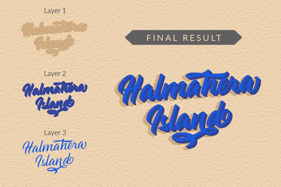 Halmahera Island Font Demo