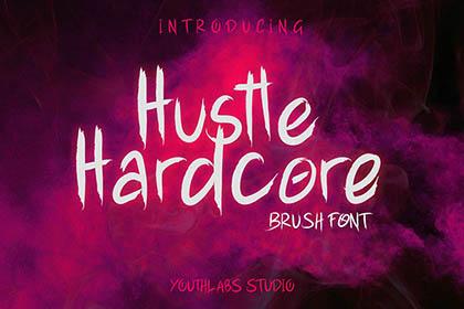 Hustle Hardcore Font Demo
