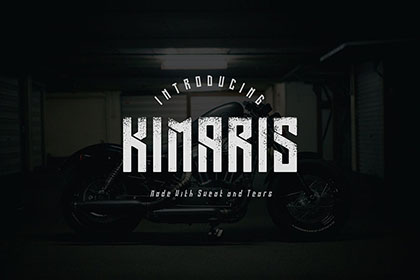 Kimaris Display Font Demo