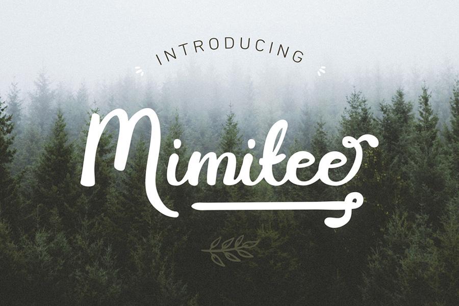 Mimitee Script Font Demo – Free Design Resources