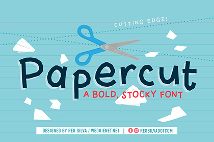 Papercut Display Font Demo