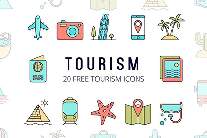 Tourism Vector Free Icon Set