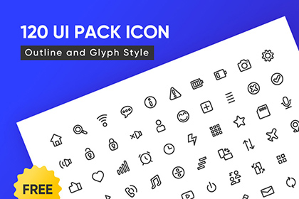 120 Free UI Outline Icons