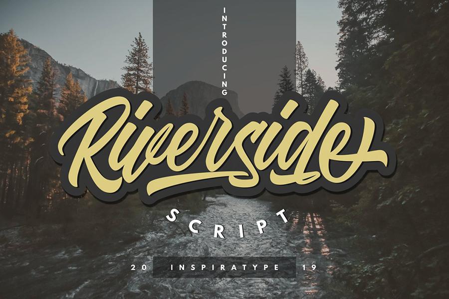 Riverside Script Font Demo