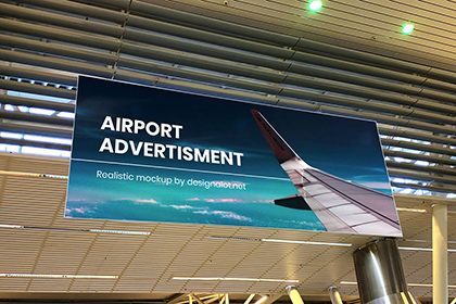 Free Airport Ads Mockup