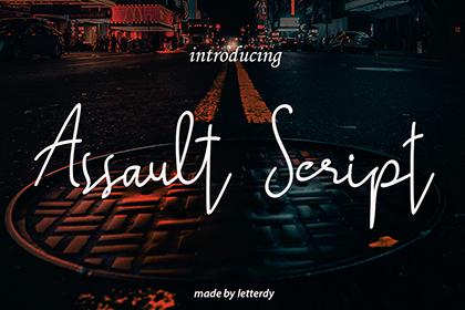 Assault Script Free Font