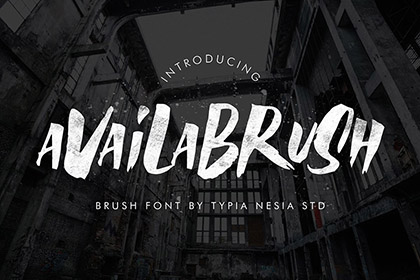 Availabrush Display Brush Font