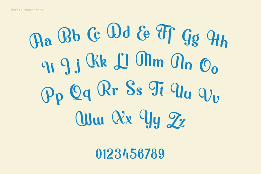 Mofita Display Font Demo