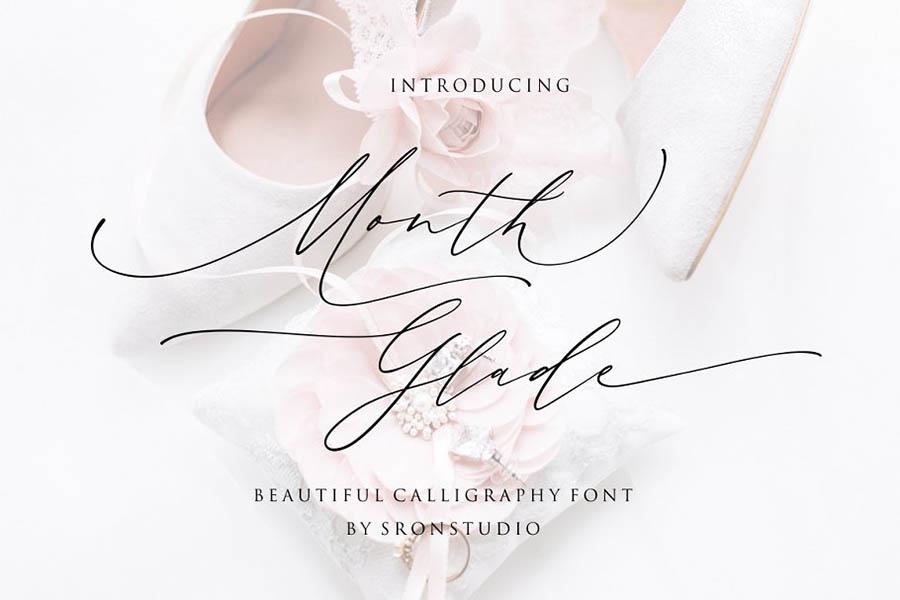 Month Glade Script Font