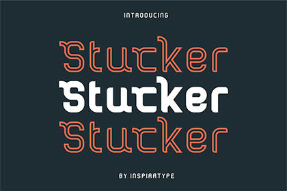 Stucker Display Font Demo