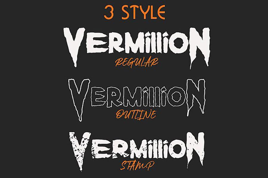 Vermillion Display Font Demo