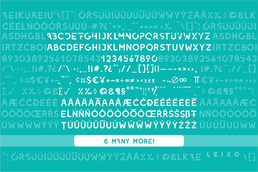 Leixo Stylish Stencil Font
