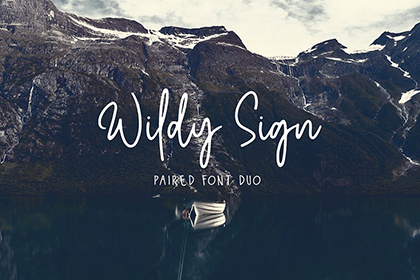 Wildy Sign Signature Font